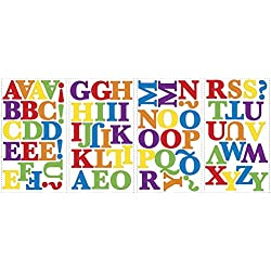 Lunarland Alphabet Primary Letter Color Wall STICKERS Room Decor Decals ABC Rainbow School