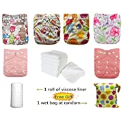 Baby Girls' One Size Reusable Cloth Diapers (CXTZ03)