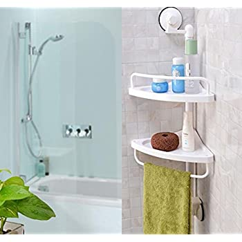Shower Caddy Wall Mounted Bathroom Corner Shelf Plastic