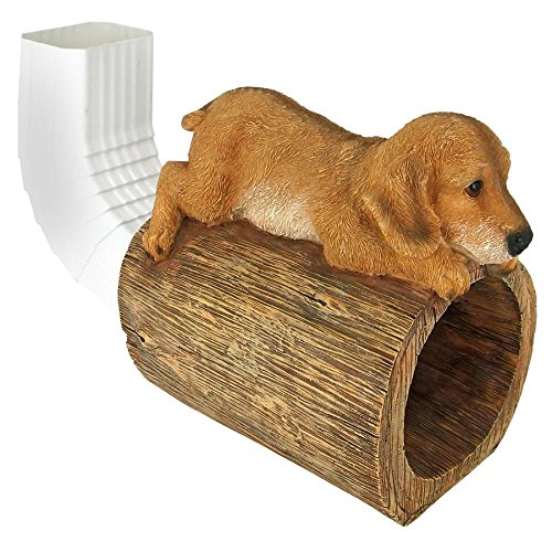 Design Toscano Golden Retriever Puppy Dog Gutter Guardian Downspout Statue