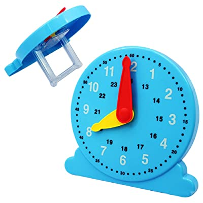 HaHawaii Clock Toy, Kindergarten Number Cognition Plastic Clock Kids Montessori Educational Toy: Home & Kitchen
