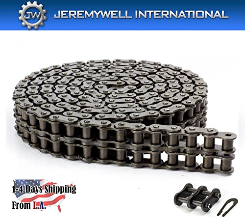 60-2R Double Strand Duplex Roller Chain 10 Feet with 1 Connecting Link