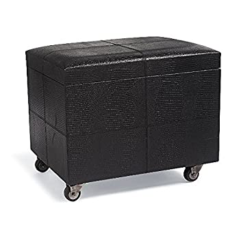 Merveilleux Amazon.com: Mobile File Ottoman With Faux Lizard Leather (Coffee): Kitchen  U0026 Dining