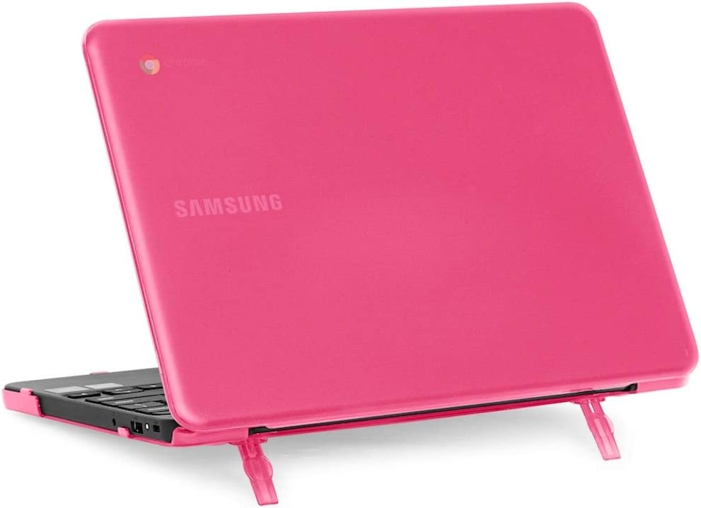 "mCover Hard Shell Case for 2018 11.6"" Samsung Chromebook 3 XE501C13 Series (NOT Compatible with Older XE303C12 / XE500C12 / XE503C12 / XE500C13 Models) Laptop (Pink)"