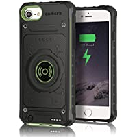 iPhone 6s Battery Case, iPhone 7 Battery Case, Apoptech Shockproof Protective Bumper iPhone 6 Charger Case Portable Battery Backup 2850mAh External Power Bank Slim Charge Case for iPhone 6 6s 7 Green