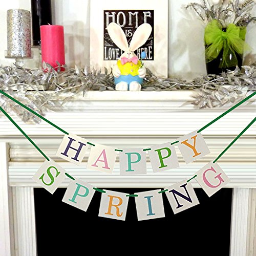 Review Happy Spring Banner Garland