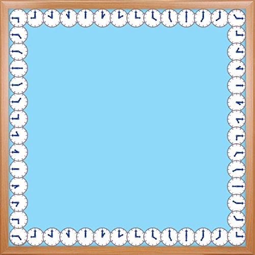 Hygloss Products Clocks Die-Cut Bulletin Board Border – Classroom Decoration – 3 x 36 Inch, 12 Pack