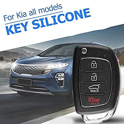 Remote Key Case Fob 4 Button Flip Folding Car Key Cover Shell for Mistra Hyundai HB20 Santa FE IX35 IX45 Accent I40 Solaris: Car Electronics