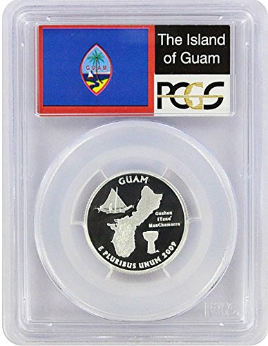 2009 Guam State S Silver Proof Quarter PR-69 PCGS