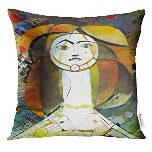 VANMI Throw Pillow Cover Alternative Reproductions of Famous Paintings by Picasso Applied Abstract Kandinsky Designed in Modern Decorative Pillow Case Home Decor Square 18x18 Inches Pillowcase