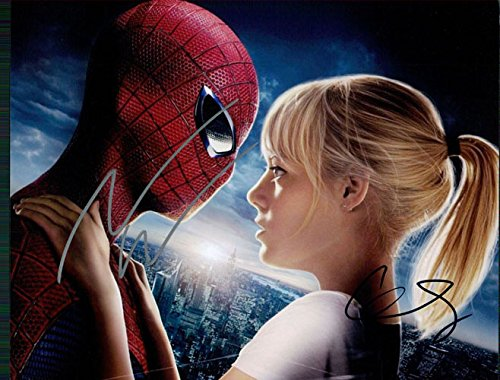 Signed Amazing Spider-man, The (Andrew Garfield / Emma Stone) 8x10 Photo By Andrew Garfield and Emma Stone autographed