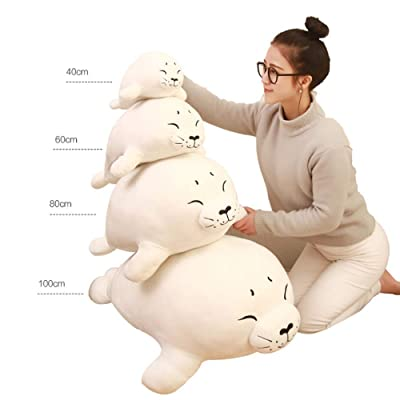 Rain city Marine Series Seal Doll Novelty Safe Smooth Down Cotton Suitable for Women or Children,40cm: Home & Kitchen