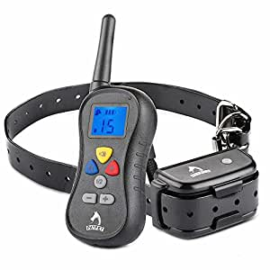 PATPET PTS-018 Rechargeable and Waterproof Remote Dog Training Collar-Vibration,Shock and Tone with Backlight LCD, Separate Silicone Buttons for Large, Medium and Small Dog!