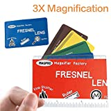 MagDepo 6 Pack Credit Card Size Magnifier Ruler