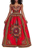 Keaac Women's Africa Print Strapless A-Line Swing Long Cocktail Dress As Picture XL