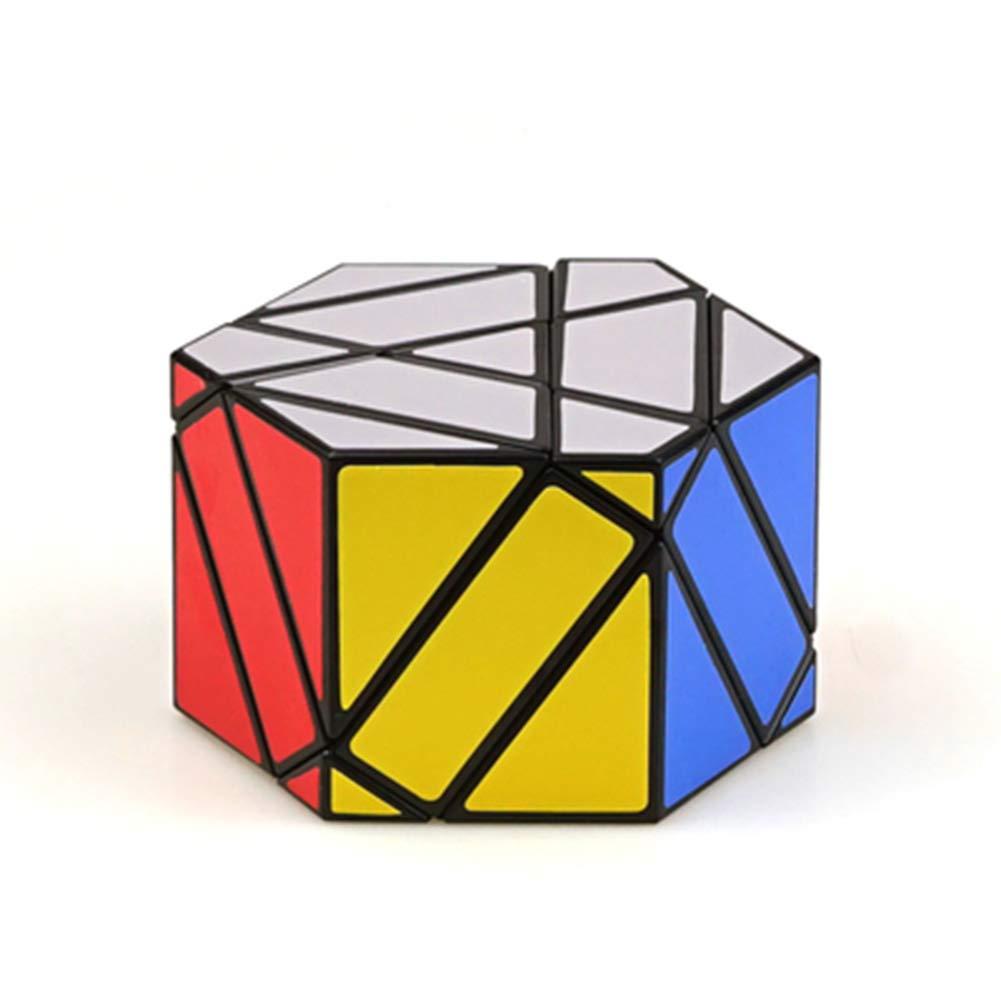 JIAAE Hexagon Magic Shield Rubik's Cube Professional Competition High Difficulty Rubik Children Puzzle Toy,Black
