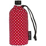 Emil-die-Flasche Trinkflasche rot mit Punkten Organic 0,6l, first class (Textilrohstoff aus Bio Baumwolle, Farbdruck ÖkoTex Standard 100)