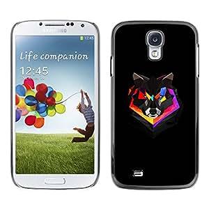 PC/Aluminum Funda Carcasa protectora para Samsung Galaxy S4 I9500 Polygon Colorful Fox / JUSTGO PHONE PROTECTOR