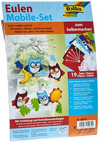 Folia 22819 - Eulen Mobile-Set zum Selbermachen