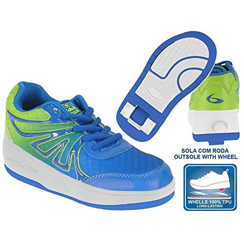 Beppi 2150840 - Zapatillas con Ruedas para Niño, Color Azul/Verde, Talla 31: Amazon.es: Zapatos y complementos