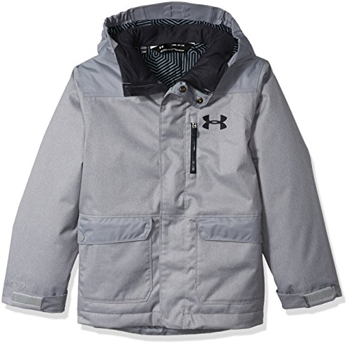 Under Armour Boys Jacket - Under Armour Boys' ColdGear Reactor Yonders Parka, Steel/Anthracite, Youth Large