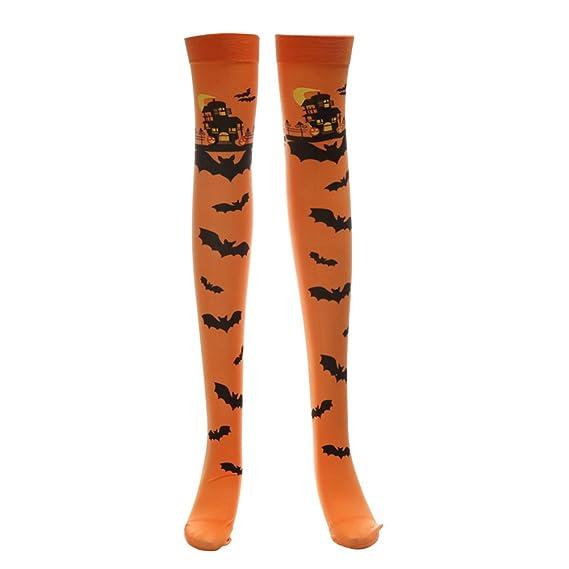 OULII Cosplay de Halloween Medias suaves sobre la rodilla Calcetines ...