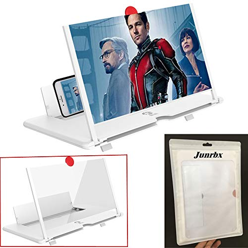 Screen Amplifier, New Phone Holder Screen Amplifier, Projection Amplifier 3D HD Mobile Video Magnifier Supports iPhone X / 8/8 Plus / 7/7 Plus / 6 / 6s / 6 Plus / 6s Plus and All Other Smartphones