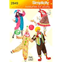 Simplicity Sewing Pattern 2849 Adult Costumes, A (X-Small - Small - Medium - Large - X-Large)