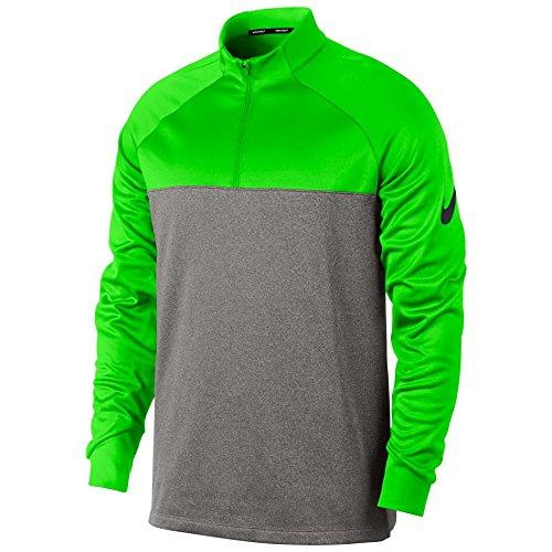 Nike Therma Fit Top Half Zip Core Golf Pullover 2018 Green Strike/Dark Gray/Heather/Black Medium