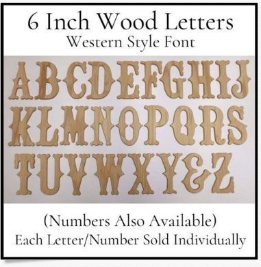 Amazon.com: Wood Letters & Numbers,