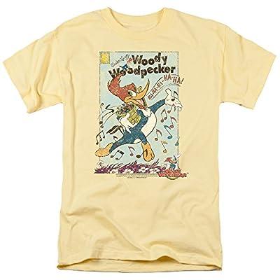 Woody Woodpecker Animated Cartoon Character Vintage Woody Adult Mens T-Shirt Tee
