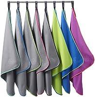 Bahidora Microfaser Handtuch. MikrofaserHandtücher, Reisehandtuch, schnelltrocknendes Handtuch. Inkl. Aufhängeschlaufe & Transportbeutel