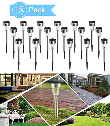 NeillieN LED Solar Lights Outdoor Garden Lights Solar Pathway Lights Landscape Lighting Solar Powered Pathway Light Landscape Light For Lawn/Patio/Yard/Walkway/Driveway (18-Park Set) -