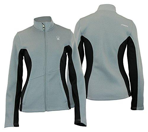 Spyder Womens Full Zip Fleece Top Steel L