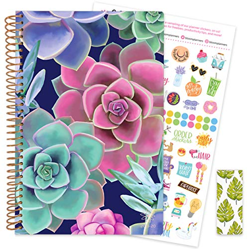 (bloom daily planners 2019-2020 Academic Year Day Planner with Bonus Bookmark & Stickers Bundle - 6