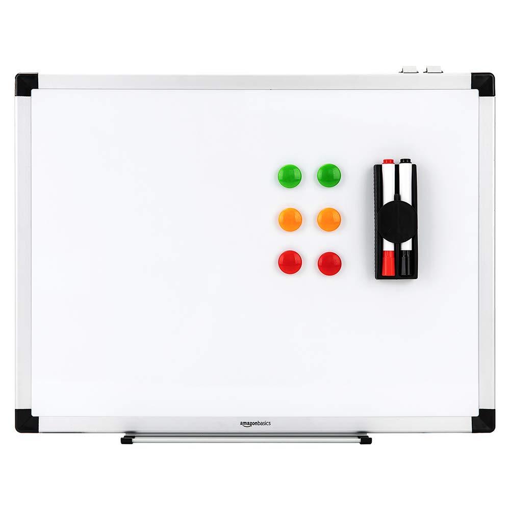B x H Basics Magnetisches Whiteboard mit Stiftablage und Aluminiumleisten 150 cm x 100 cm trocken abwischbar