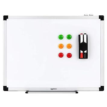 AmazonBasics - Pizarra blanca magnética con bandeja para rotuladores ...