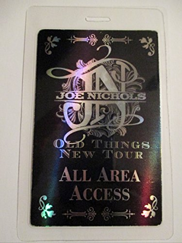 Joe Nichols Hologram Laminated Backstage Pass All Access Old Things New Tour