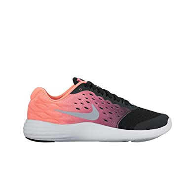 4c6780261864d Amazon.com | Nike Girl's Lunarstelos (GS) Running Shoe Black ...