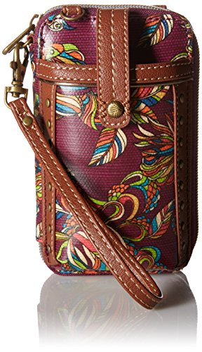 Sakroots Artist Circle Smartphone Wristlet, Mulberry Treehouse, One Size
