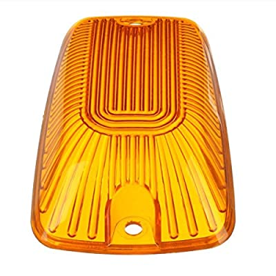 AEagle 5pcs Top Roof Light Cab Clearance Marker Cover Lens for 1988-2002 Chevy/GMC C/K1500/2500/3500/4500/5500/6500/7500 Kodiak Topkick Trucks (Amber): Automotive
