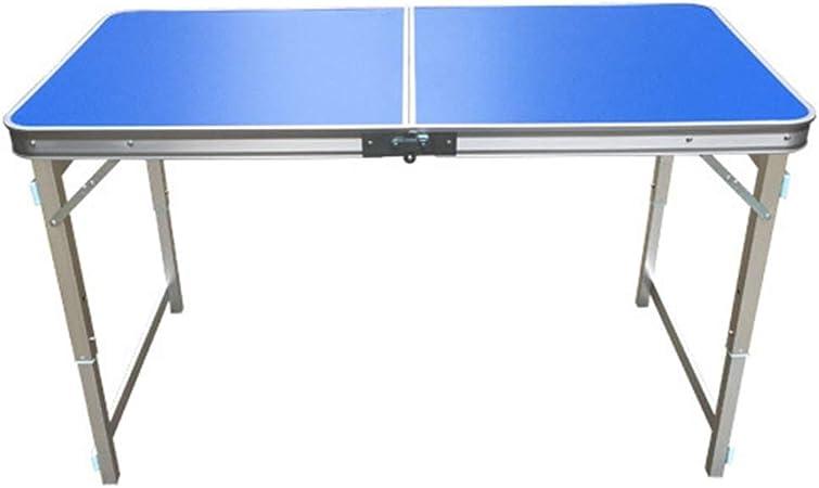 VA-DESK Mesa de Comedor Mesa de Aluminio Plegable Ligera para ...