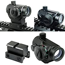 Higoo Tactical Reflex Red/Green Dot Sight Holographic Scope with High Profile Mount fit 20mm Picatinny/Waver Rail or 11mm 11mm Dovetail