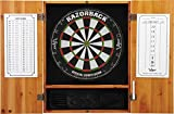 Viper Metropolitan Sisal/Bristle Steel Tip Dartboard & Cabinet Bundle: Premium Set (Razorback Dartboard and Darts), Oak Finish