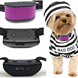 Classic 680-DCV Purple (Rechargeable Vibration) No Bark Dog Collar (Mini & Small Dogs 4lbs Plus) Bark Training Solution. (New Smart CHIP Technology 2019) 100% Lifetime Product Warranty