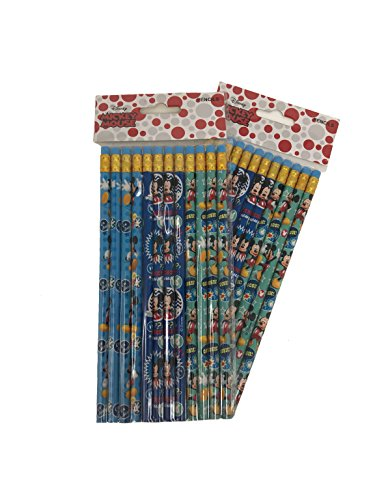 Disney Mickey Mouse Wood Pencils, 2 packs of 12