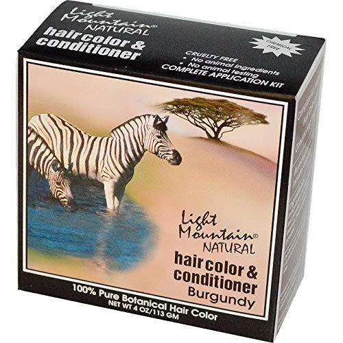 Hair Color & Conditioner- Burgundy Light Mountain 4 oz Powder