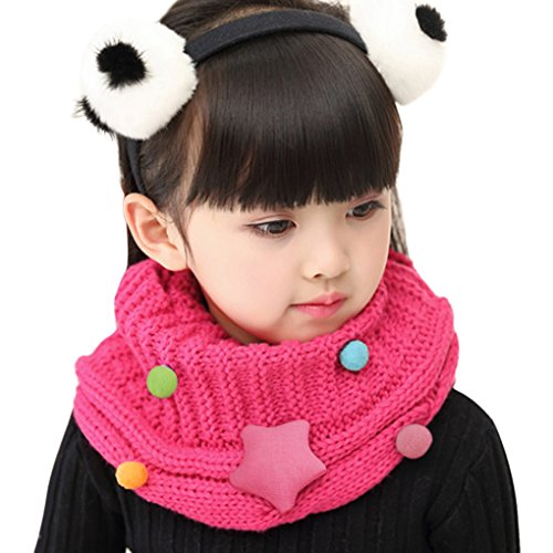 - Fashion Kids Winter Warm Infinity Scarf Thick Wool Knit Baby Child Toddler Boys Girls Chunky Neck Warmer Cowl Soft Circle Loop Scarf Neck Wrap Long Snood Scarves Shawl, Best Christmas Birthday Gift