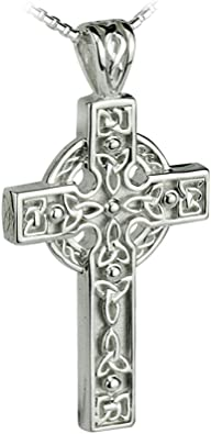 silver and gold trinity on a leather necklace band ...man or woman.. made in Ireland by solvar