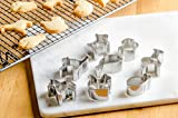 StarPack Premium Mini Animal Cookie Cutters including Goldfish Cookie Cutter - Bonus 101 Cooking Tips